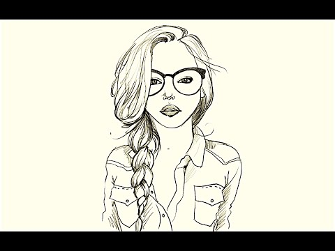 480x360 How To Draw A Girl In Glasses
