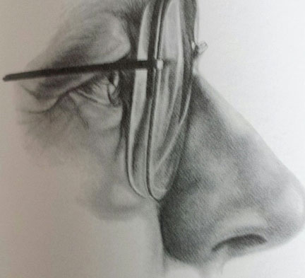 432x393 One Challenge Of Drawing Faces Eyeglasses