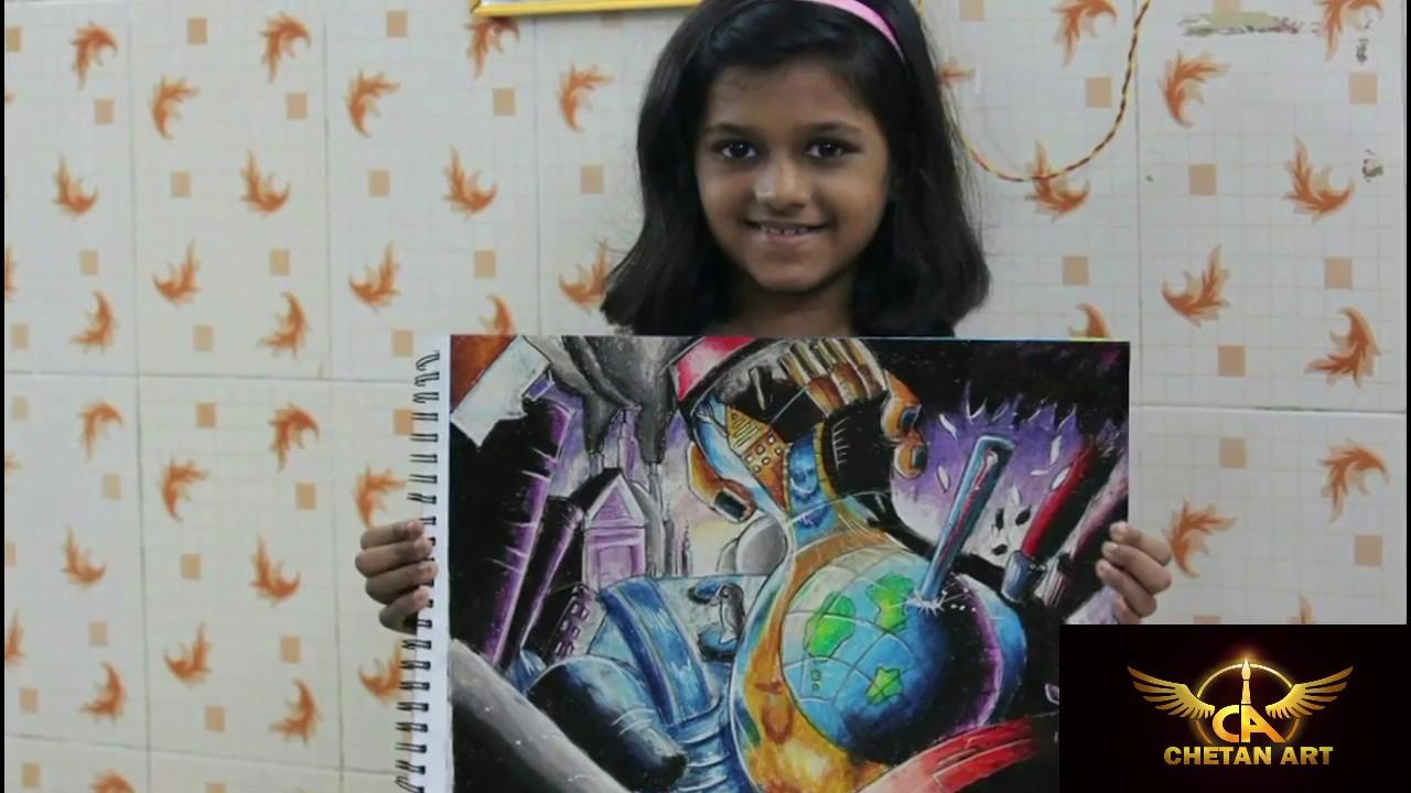 1280x720 Creative Drawing On Global Warming Chetan Art For Kids