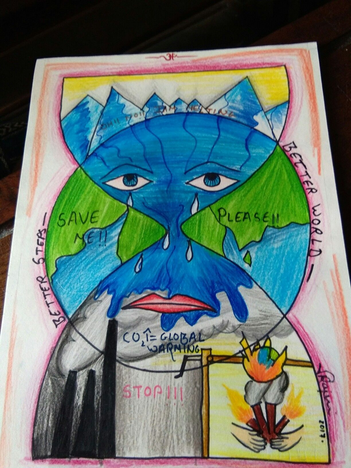 1224x1632 Global Warming Posters Global Warming, Drawings