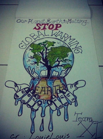 355x475 Manual Hand Drawing Stop Global Warming By Louisembunprastika
