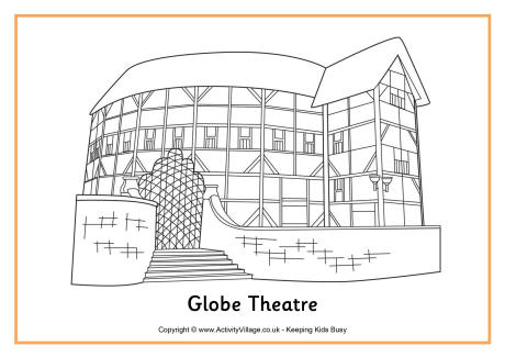 460x325 For Showman Badge Globe Theater Coloring Page Kids Stuff