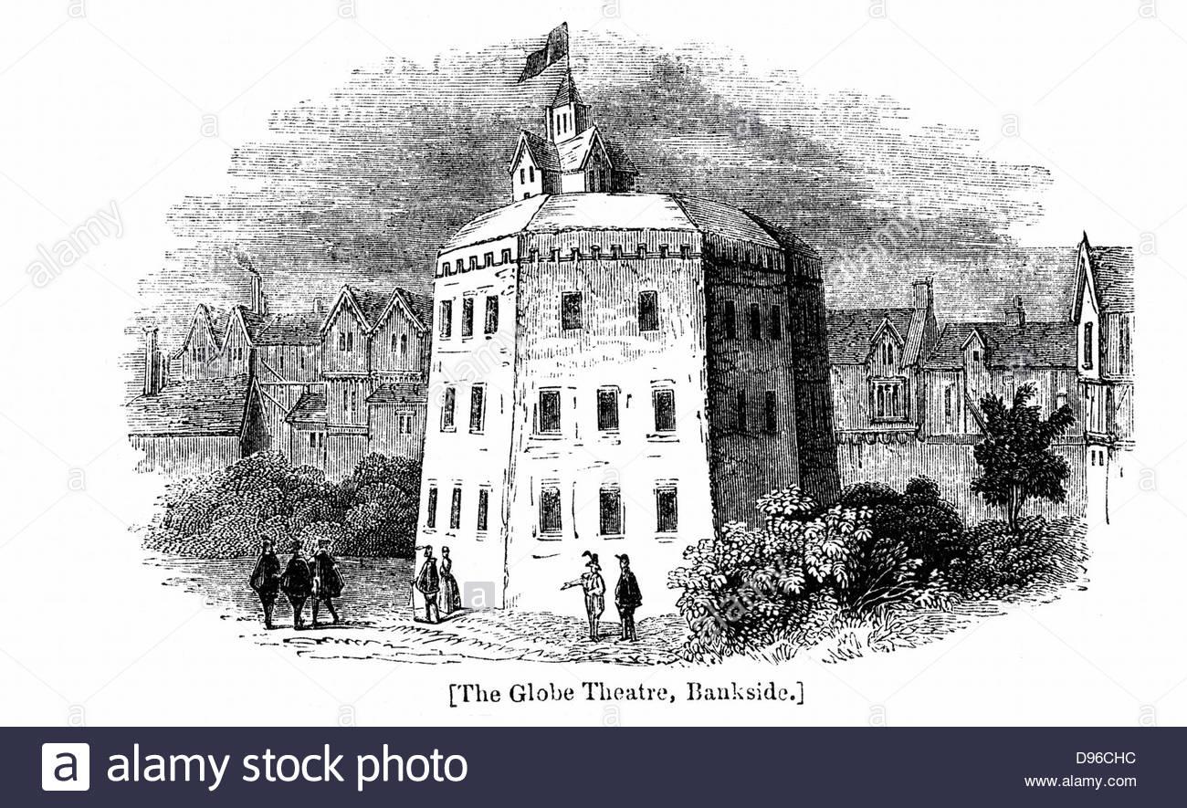 1300x885 Globe Theatre, Bankside, Southwark, London, As It Appeared C1597