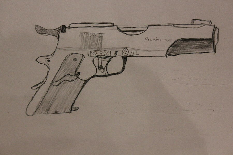 900x600 The Glock Bond Drawing By Dylan Kerler