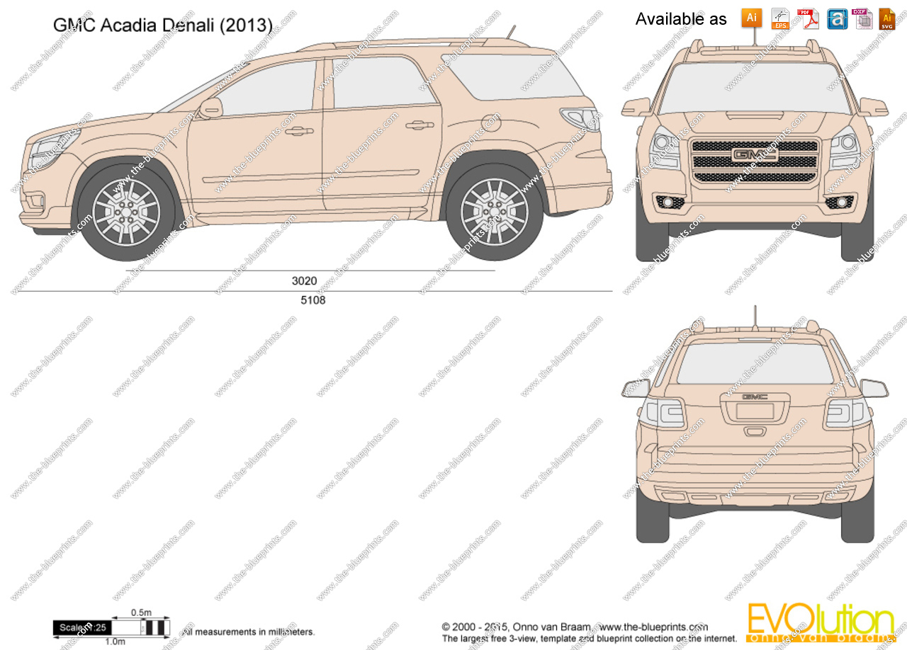 Gmc Drawing At Free For Personal Use 2003 Truck Parts Breakdown 1280x918 Acadia Denali Vector