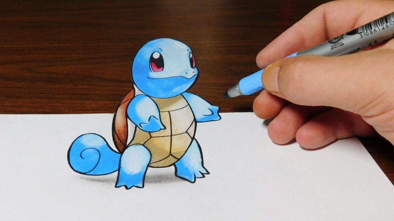 1280x720 Drawing Squirtle