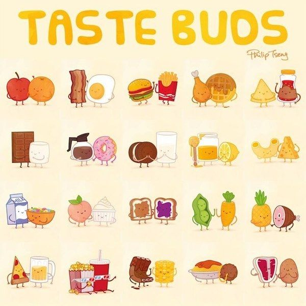 600x600 Adorable, Delightful Illustrations Show Foods That Go Well