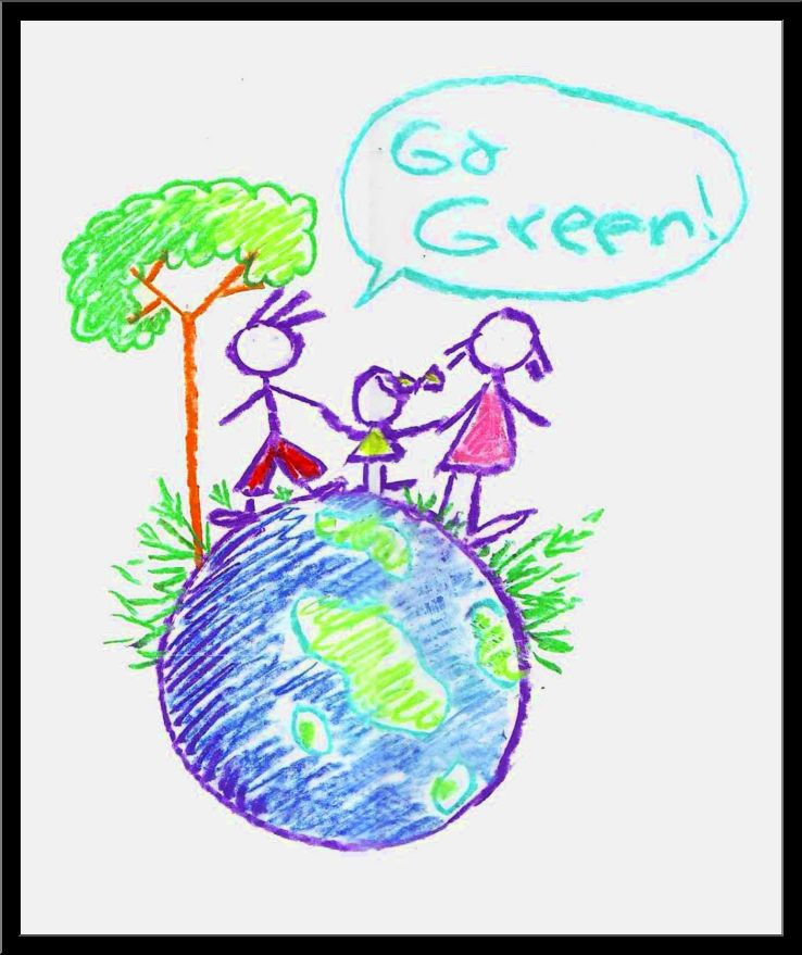 738x879 Go Green Drawing Ideas For Kids