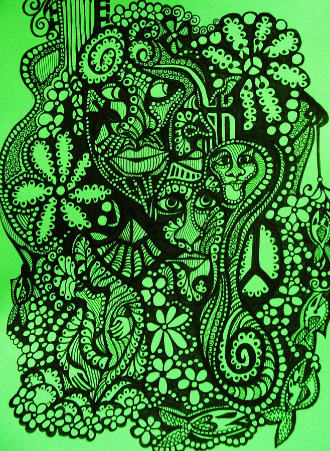658x900 Go Green Drawing By Gerri Rowan