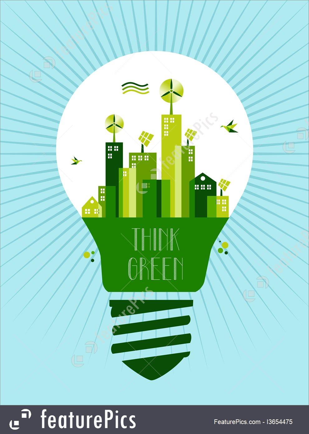 991x1392 Illustration Of Go Green City Idea Concept