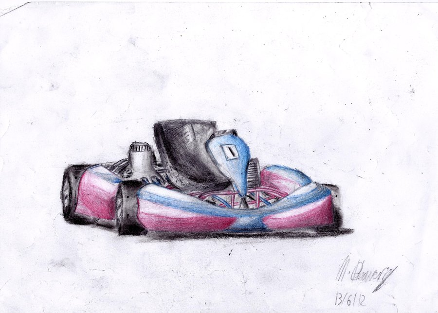 900x644 Go Kart Drawing By Mster232