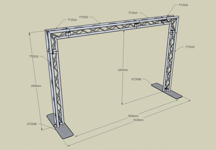 700x487 Ladder Truss Straight Length Trussing Ladder Truss Structure