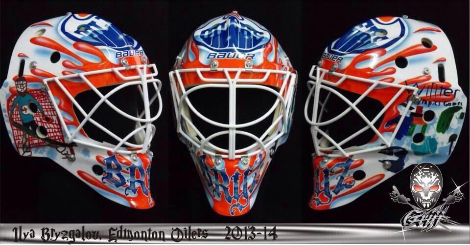 960x502 Bryzgalov's New Mask. The Side Drawings Are Done By His Kids [X