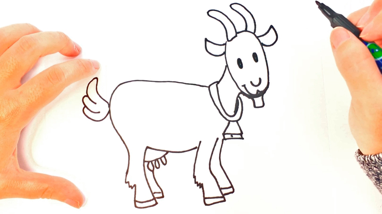 1280x720 How To Draw A Goat For Kids Goat Easy Draw Tutorial