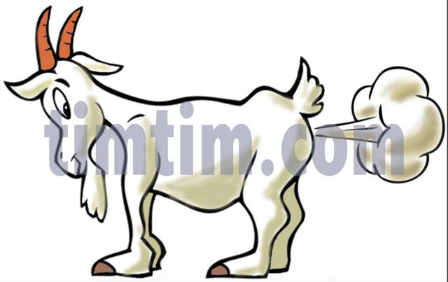 640x403 Free Drawing Of A Farting Goat From The Category Farm Animals