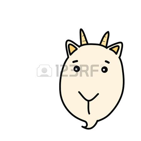 450x450 Goat Face Cartoon Drawing Royalty Free Cliparts, Vectors,