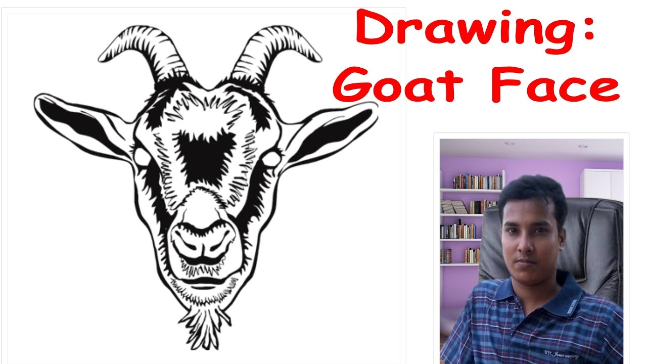 1280x720 How To Draw A Goat Face