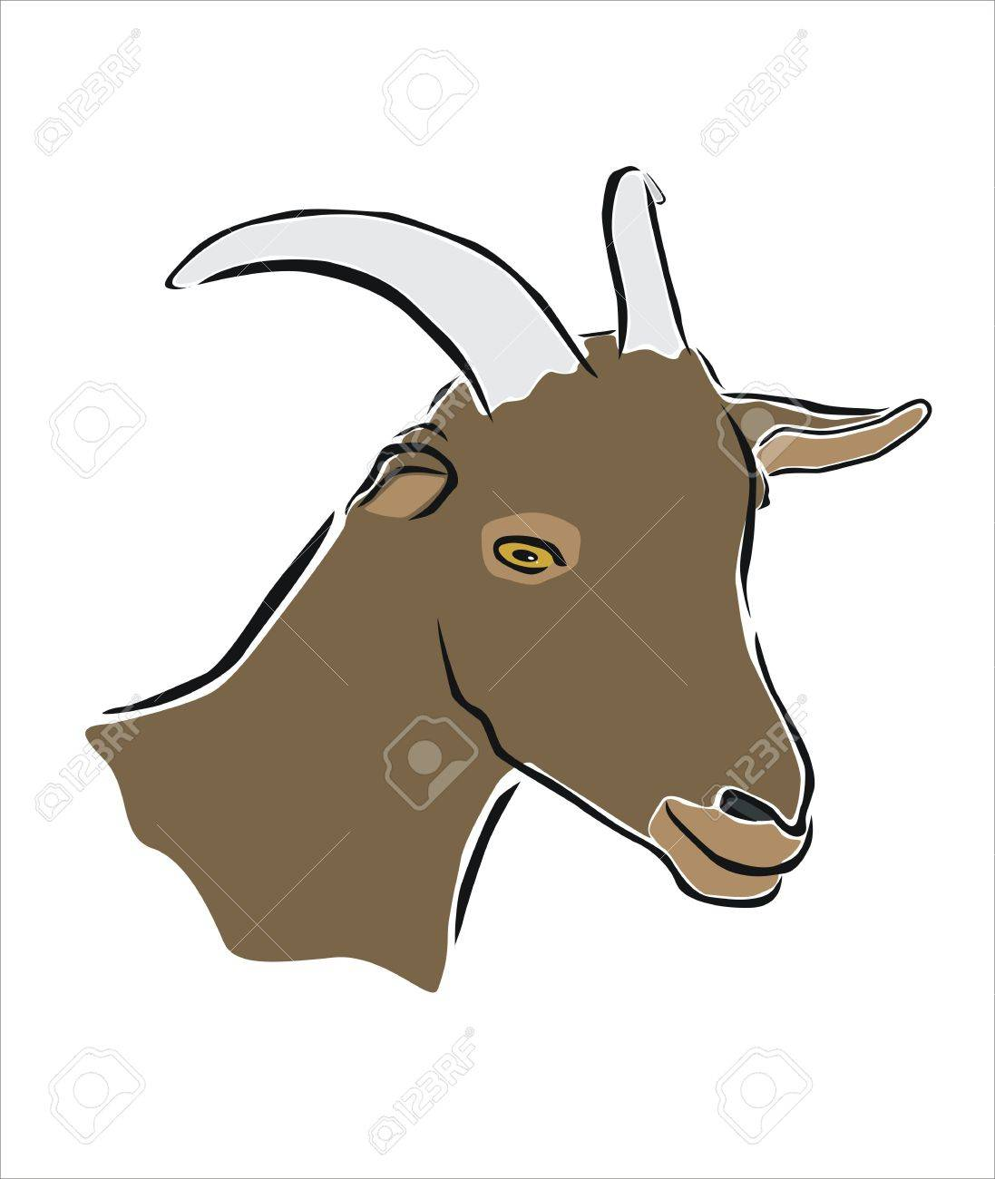 1097x1300 Drawing Of The Head Of A Goat Royalty Free Cliparts, Vectors,