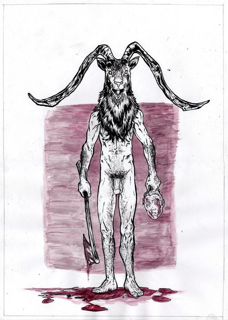 754x1059 Goat Head Halloween A3