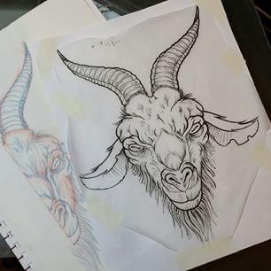 306x306 Goat Head Tattoo Designs