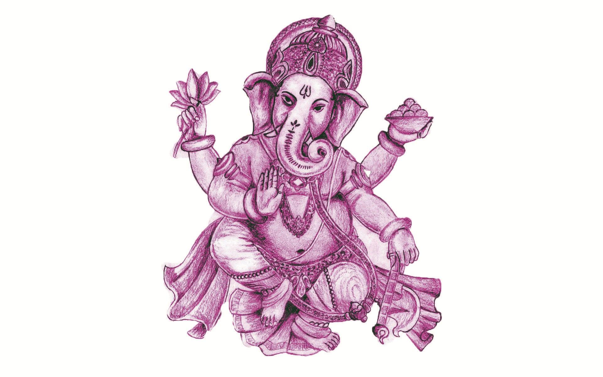 God Ganesh Drawing at GetDrawings
