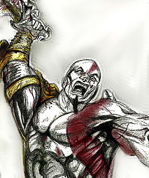 586x700 God Of War Drawing By Efherne