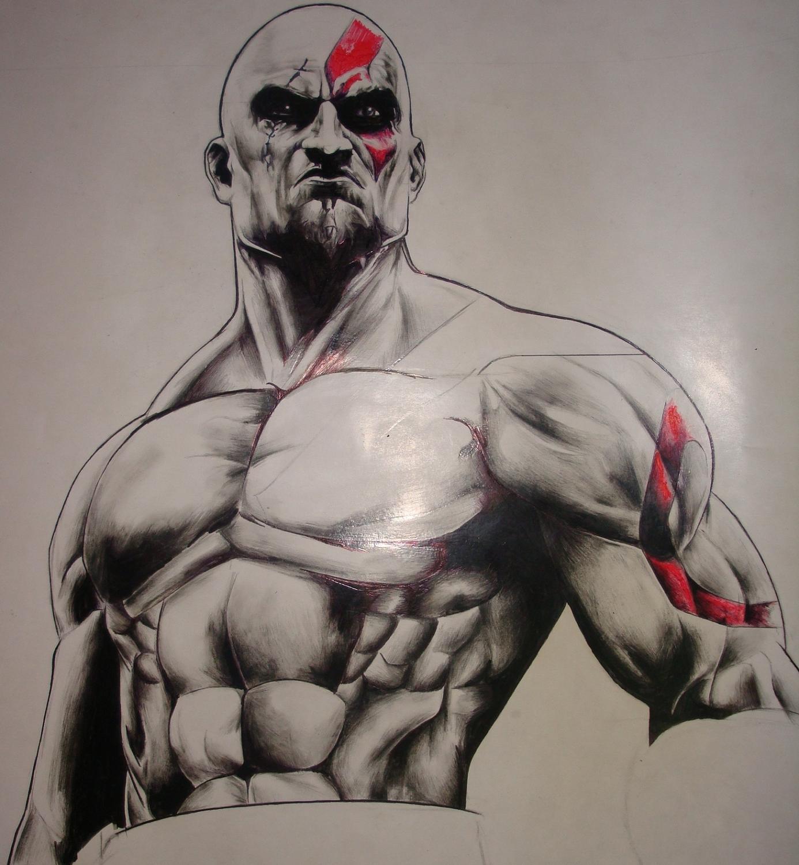 1386x1501 God Of War Kratos By Ninja4354