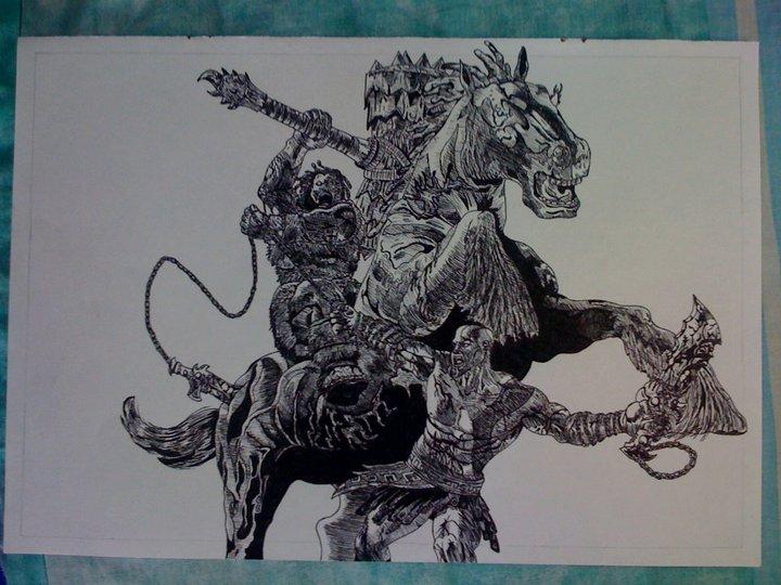720x540 God Of War 2 Drawing By Chriluke