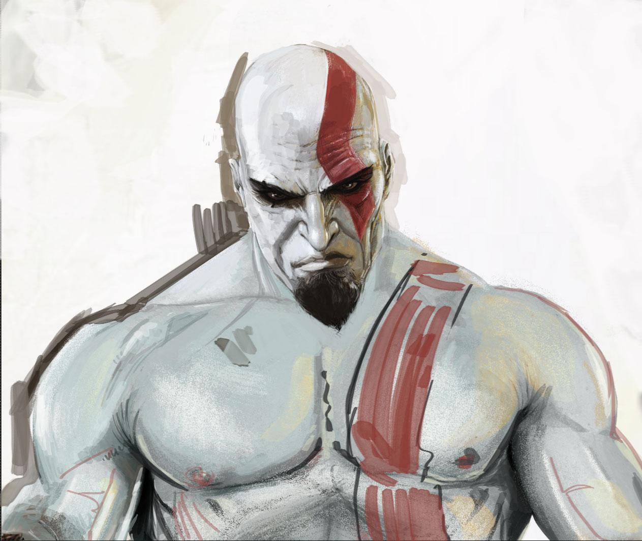 1263x1064 Kratos (God Of War)