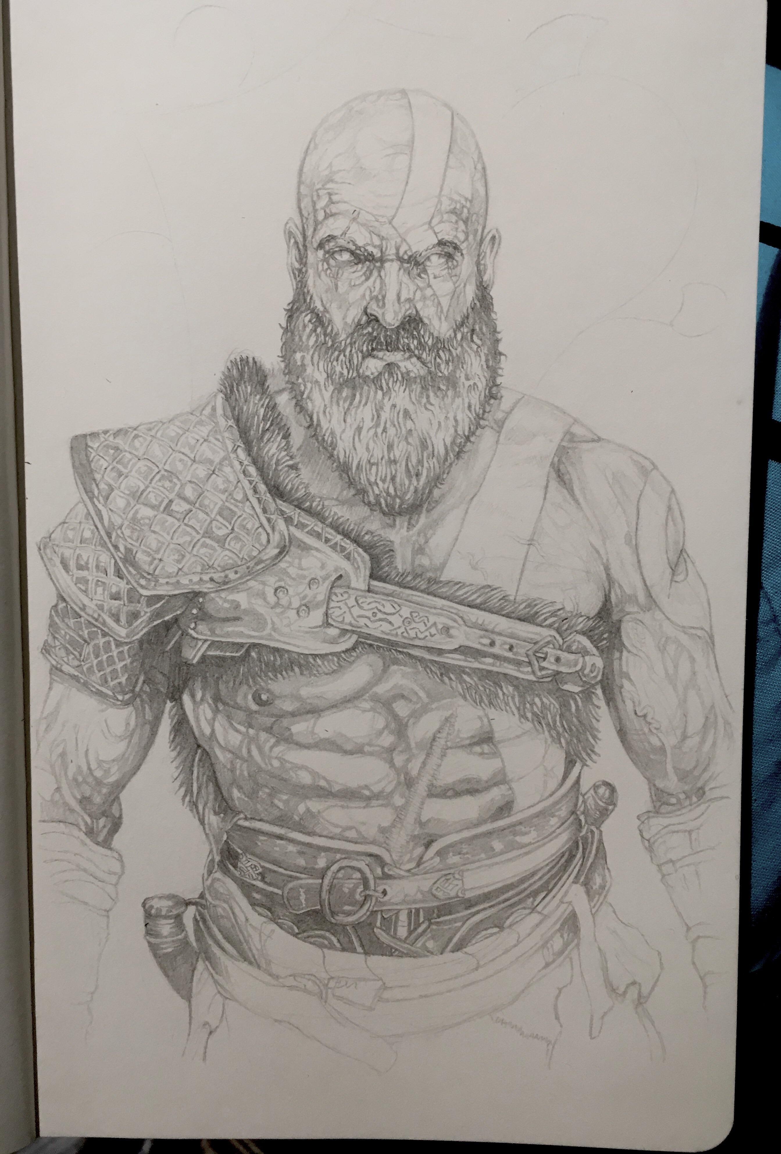 2687x3966 Kratos From The Upcoming God Of War. Gaming Gaming