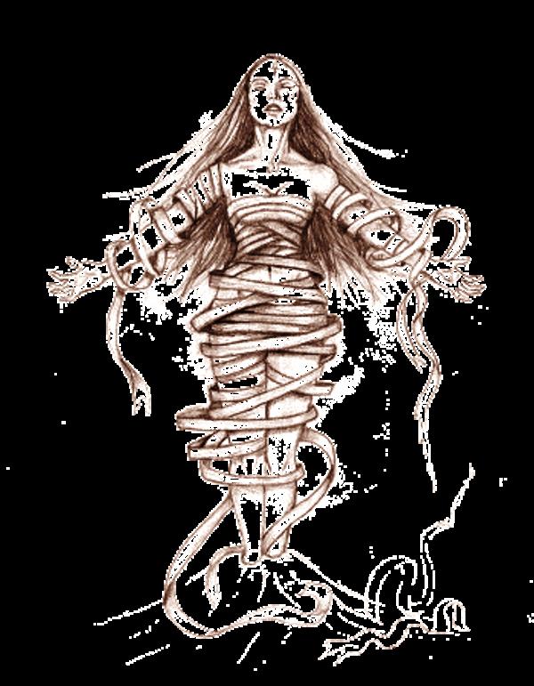 600x771 Drawing Of Goddess Nephthys
