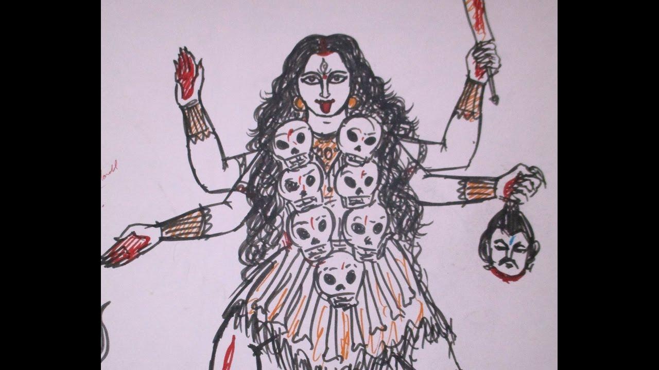 1280x720 Mahakali (Goddess Kali) Fastest Drawing With Sketch Pen