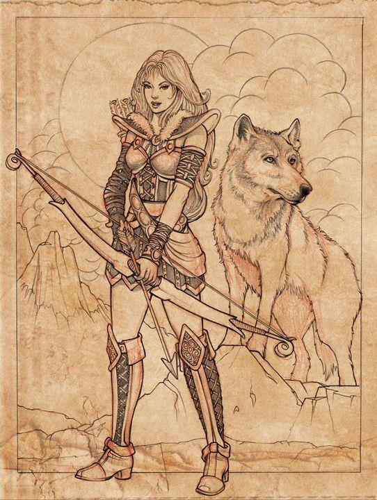 542x720 Skade Goddess Sketch