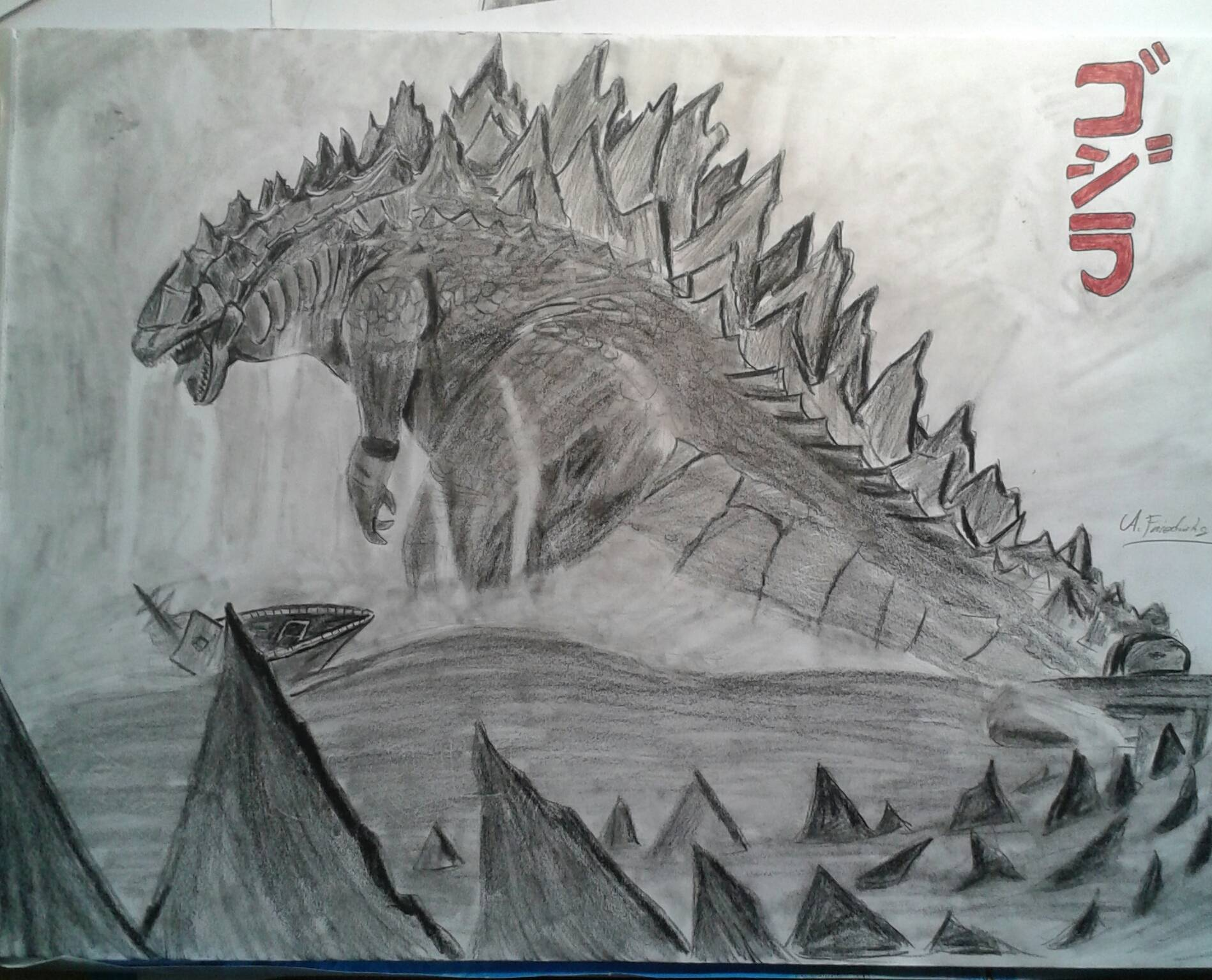 How To Draw Godzilla Step By Step Pictures