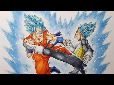 480x360 Drawing Goku Vs Vegeta