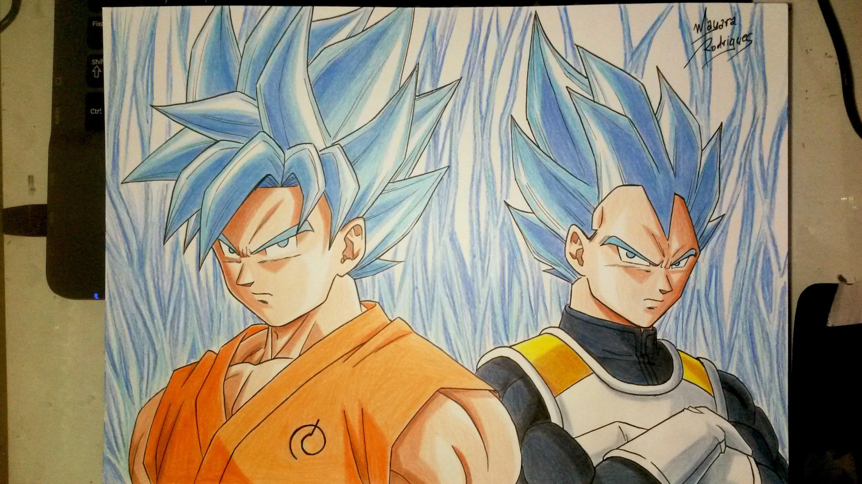 3000x1687 Drawing Goku And Vegeta