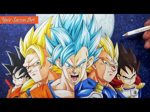 480x360 Drawing The Evolution Of Goku And Vegeta!
