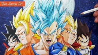 320x180 Ecouter Et Drawing Goku Vs Gohan Super Saiyan Blue