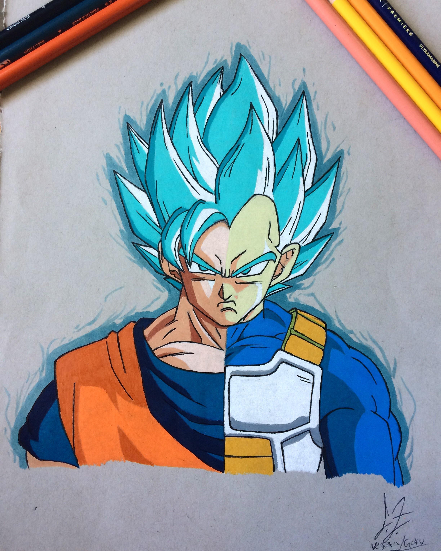 2448x3060 Oc] I Drew A Composite Gokuvegeta. Dbz