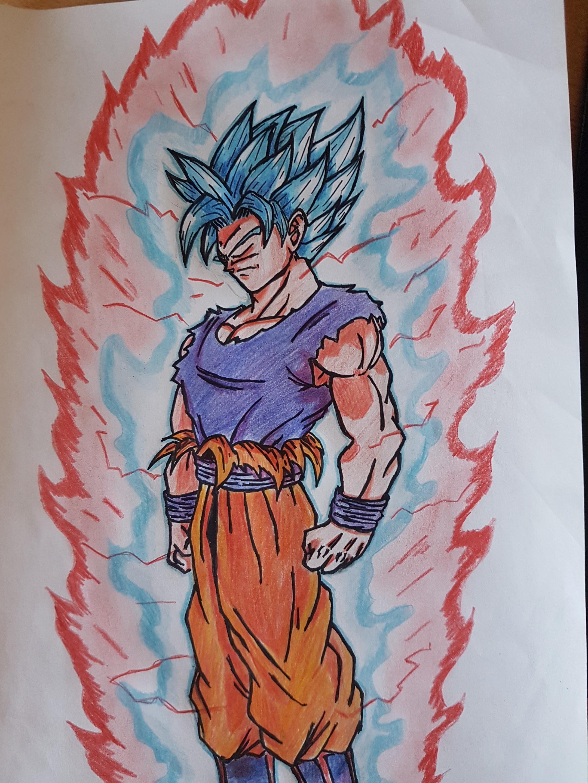 2160x2880 Fanart] Goku Drawing I Made Dbz