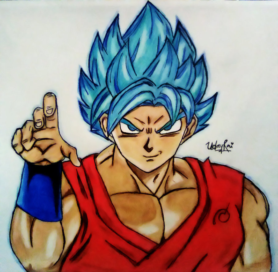 903x884 Goku Super Saiyan God Blue Drawing By Iamuday