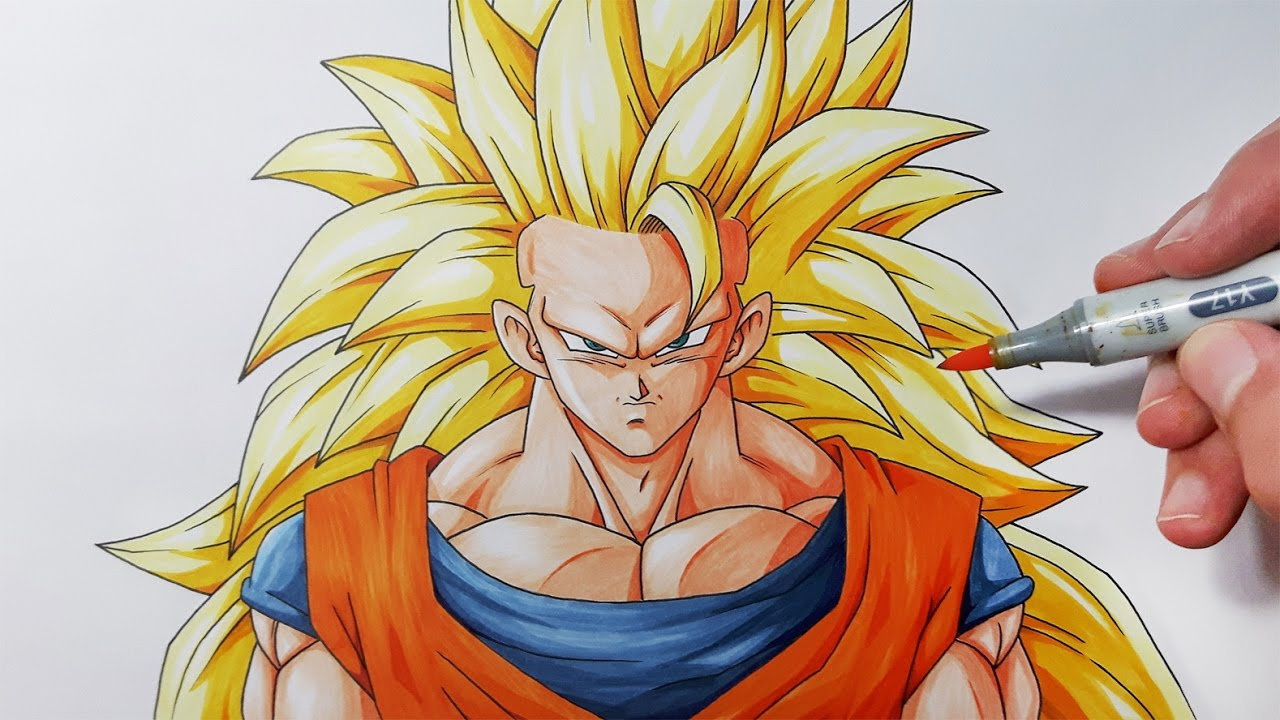 1280x720 How To Draw Goku Super Saiyan 3