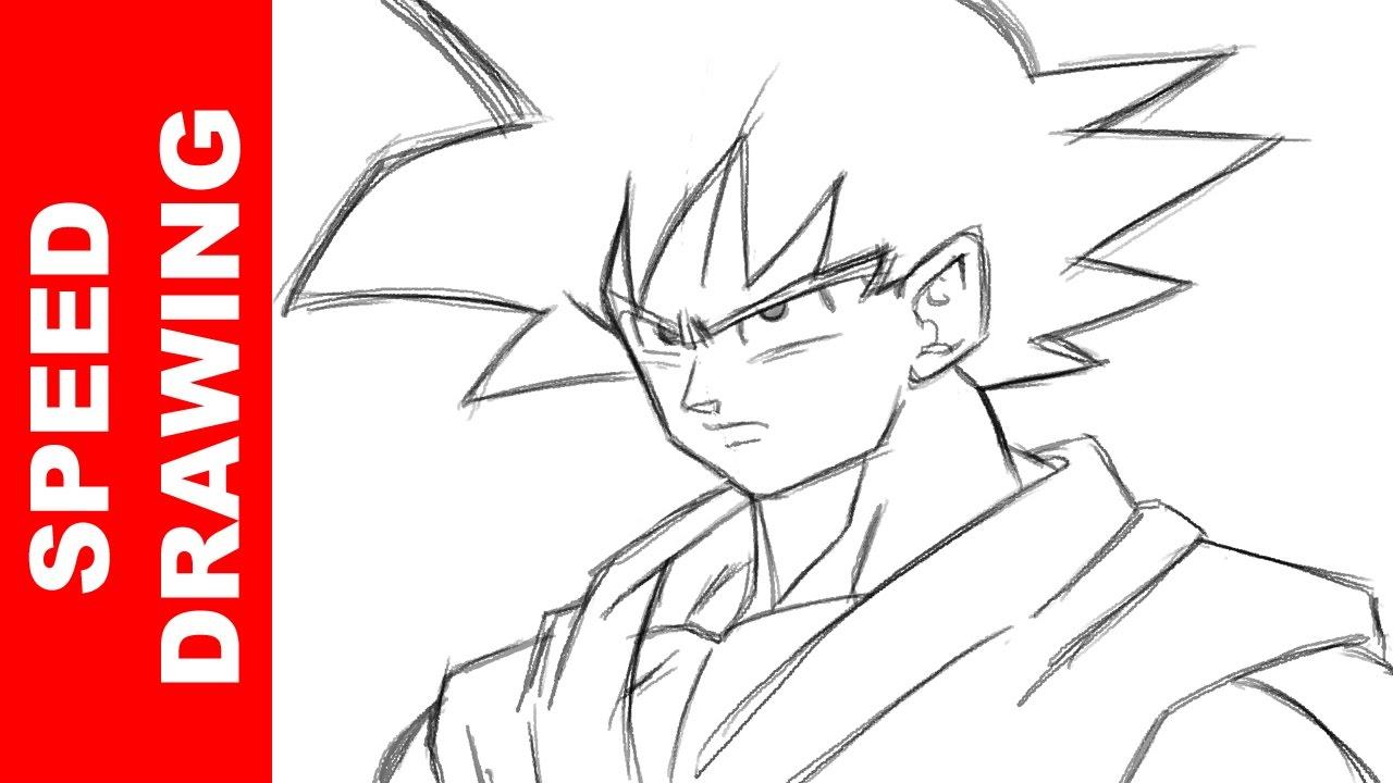 1280x720 How To Draw Goku Dragon Ball Super