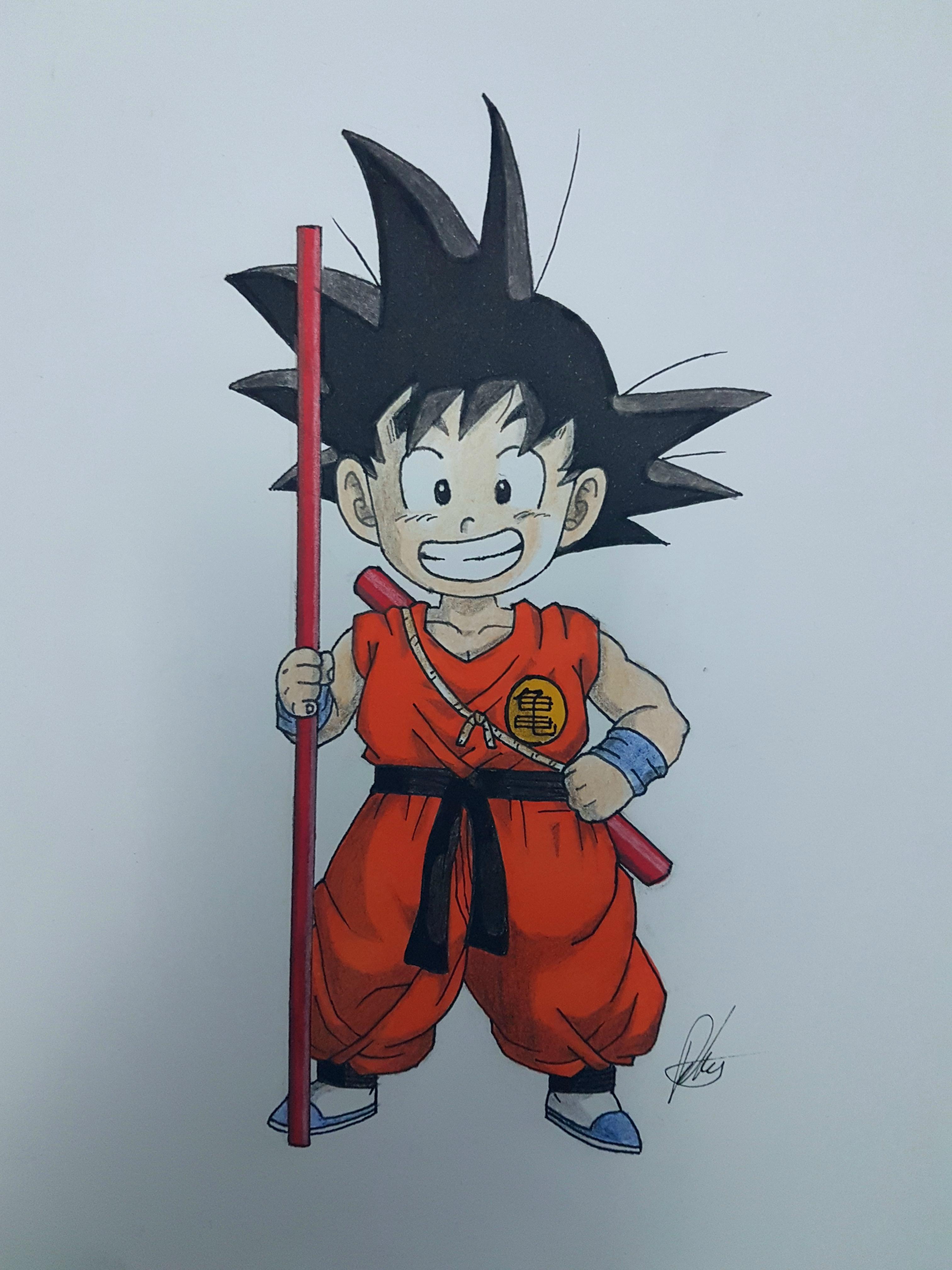 3024x4032 Oc] Kid Goku Drawing Dbz