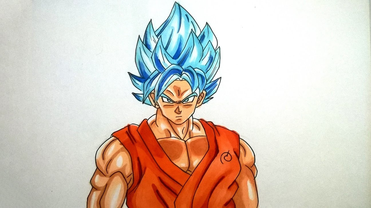 1296x728 Easy Pencil Sketches Of Dragon Ball Z Goku Drawing Goku Super