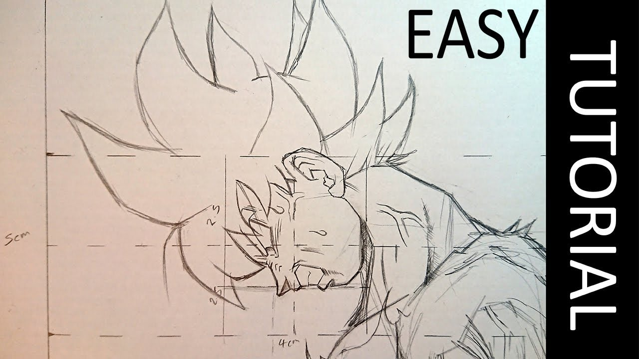 1280x720 How To Draw Goku