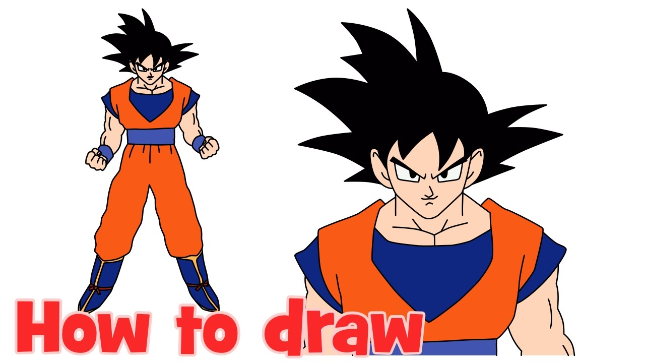 1280x720 How To Draw Goku From Dragon Ball Z Full Body Step By Step