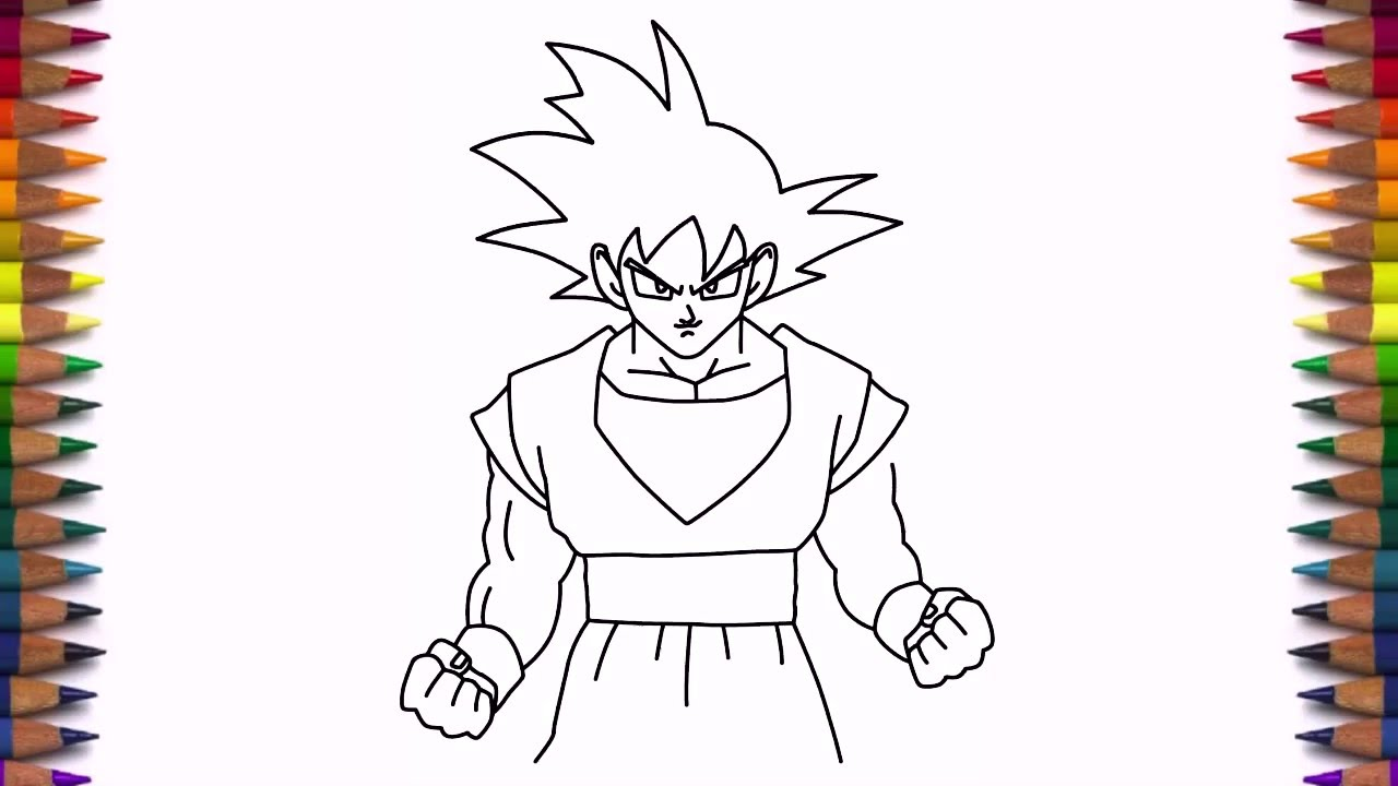 1280x720 How To Draw Goku From Dragon Ball Z Step By Step Easy