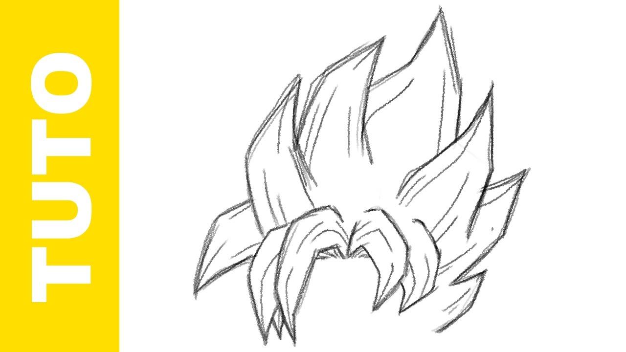 1280x720 Comment Dessiner Dbz Les Cheveux De Goku Ssj