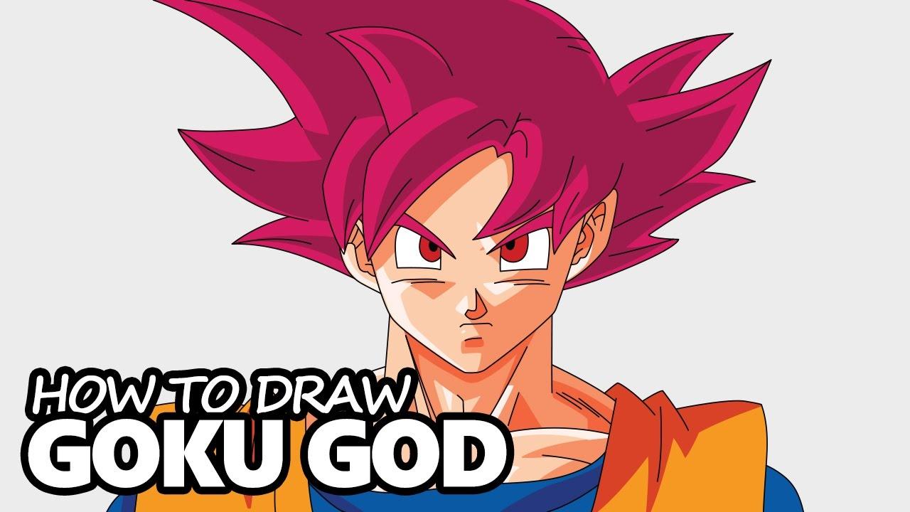 1280x720 How To Draw Goku Super Saiyan God (Dragon Ball Z)